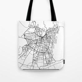 SANTIAGO DE CHILE BLACK CITY STREET MAP ART Tote Bag