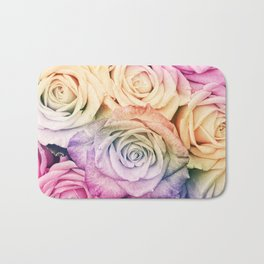 Some people grumble - Colorful Roses - Rose pattern Bath Mat