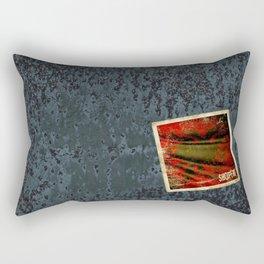 Grunge sticker of Albania flag Rectangular Pillow
