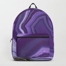 Purple colored agate Backpack