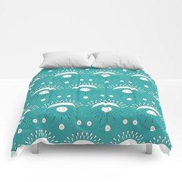 Moon and Rays Comforters