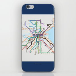 Dublin Frequent Transport Map V10 iPhone Skin