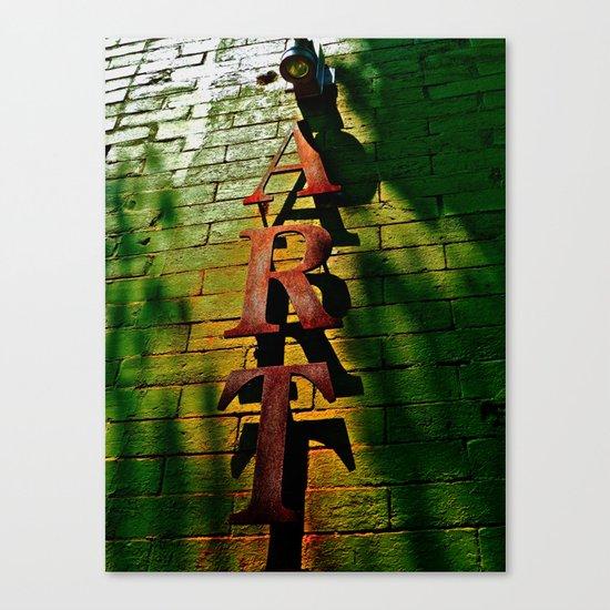 Art on Bricks Canvas Print