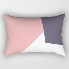 pink navy white Rectangular Pillow