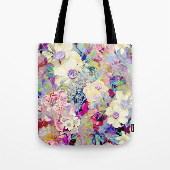 summery floral Tote Bag