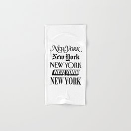 I Heart New York City Black and White New York Poster I Love NYC Design black-white home wall decor Hand & Bath Towel
