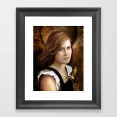 Newsom Heart Framed Art Print