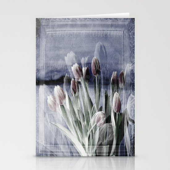 Paint me tulips Stationery Cards