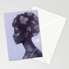 Moonlight lady Stationery Cards