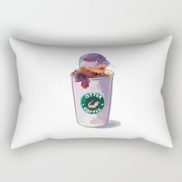 Otter Coffee Rectangular Pillow