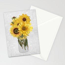 Vintage Sunflower Stationery Cards