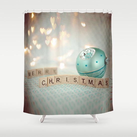 Ornament Christmas Shower Curtain