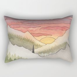 Rusty Light on the Pines Rectangular Pillow