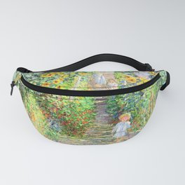 Monets Garden at Vetheuil Fanny Pack