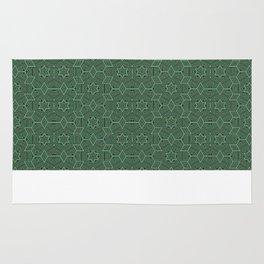 Green stars Rug