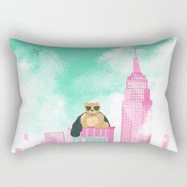 Teddy Bear in New York Rectangular Pillow