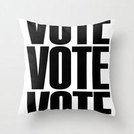 Vote Vote Vote Throw Pillow