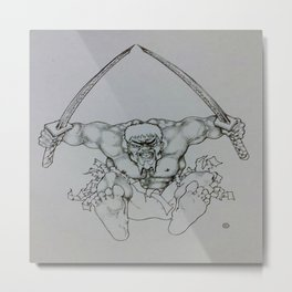 Ninja Hulk Metal Print