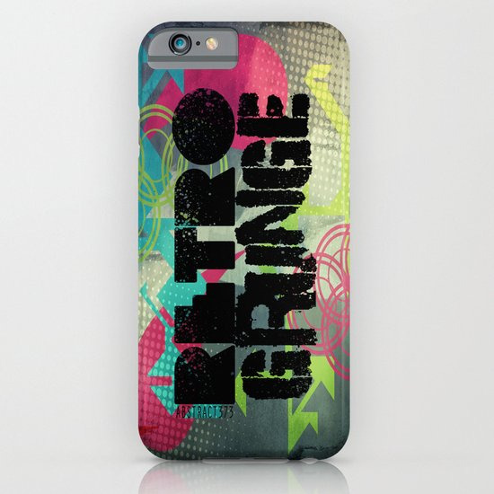 Abstract373 Retro Grunge iPhone & iPod Case
