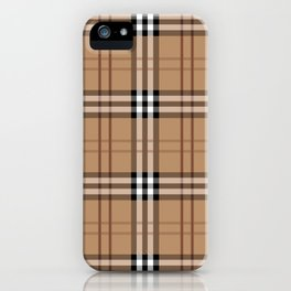 Classic Vintage Brown Check  Tartan iPhone Case