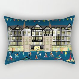 Art Print of Liberty of London Store - Night time Rectangular Pillow