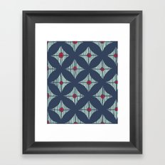 Repeat with Red Berries Framed Art Print