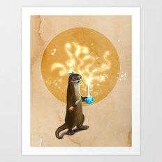 Otter Doing Science Art Print