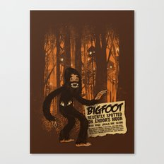 Bigfoot spotted on… Canvas Print