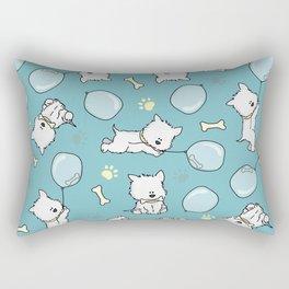Hungry Westie Puppy Rectangular Pillow