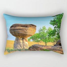 Mushroom Rock Kanopolis Lake Kansas Rectangular Pillow
