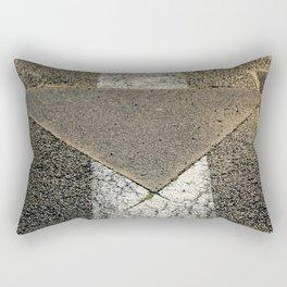 concrete arrow Rectangular Pillow