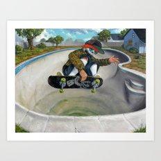 Pool Calavera Art Print