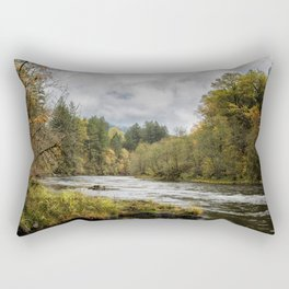 Fall on the McKenzie River Rectangular Pillow
