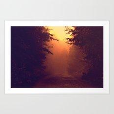 One Foggy Morning Art Print