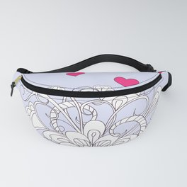 valentine bouquet in the cup Fanny Pack