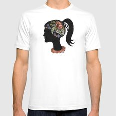 Thought Patterns MEDIUM Mens Fitted Tee White