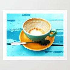Latte coffee cup dregs Art Print