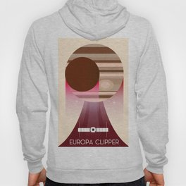 Europa Clipper Space Art poster. Hoody