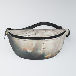 dandelion silver and black Fanny Pack