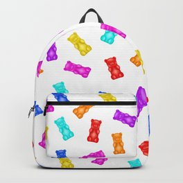 Colorful Gummy Bear Pattern Backpack