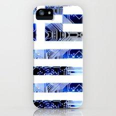 circuit board greece (Flag) iPhone (5, 5s) Slim Case