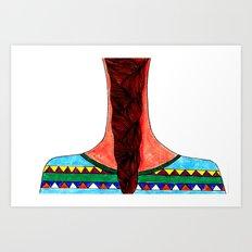 Braid & Bad Sweater Art Print