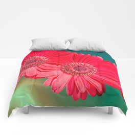 red gerbera daisy for decoration Comforters