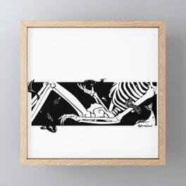 Sleeping Framed Mini Art Print