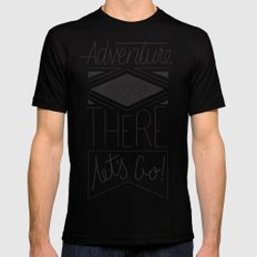 Adventure Is Out There Mens Fitted Tee MEDIUM Black