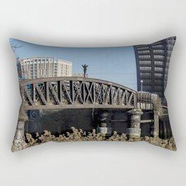 On top of the bridge Rectangular Pillow