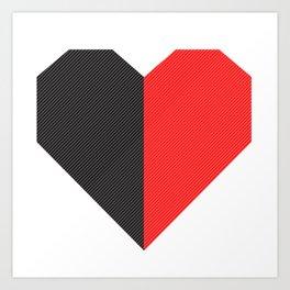 heart 50/50 Art Print