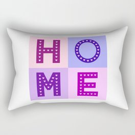 Love Hearts Home Type Pinks Purples Rectangular Pillow