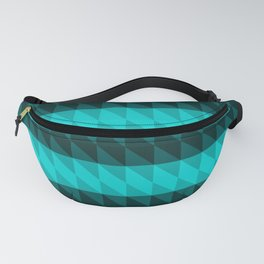 Cyan and Black Fanny Pack