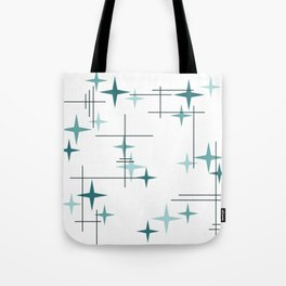 Mid Century Modern Stars (Teal) Tote Bag